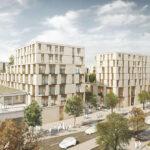 Das neue Innenstadt-Quartier PULSE im Überblick (unverbindliche Illustration)